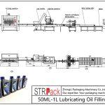 Automatinė 50ML-1L tepalinės alyvos pildymo linija