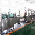 Automatinės gamybos linijos butelių pildymo mašinos užpildymo pakavimo mašinos, skirtos 70% alkoholio rankiniam sanitarui, šampūnui, dušo želė, skysčiui