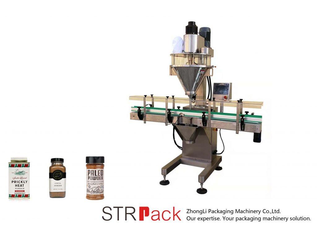 Automatinis augerio miltelių užpildymo aparatas