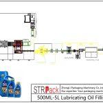 Automatinė 500ML-5L tepalinės alyvos pildymo linija