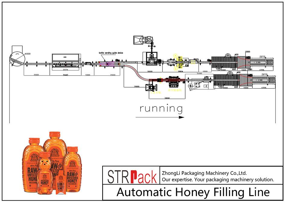 Automatinė medaus pildymo linija