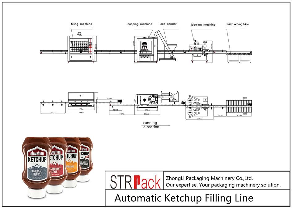 Automatinė kečupo pildymo linija