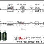 Automatinė šampūno užpildymo linija