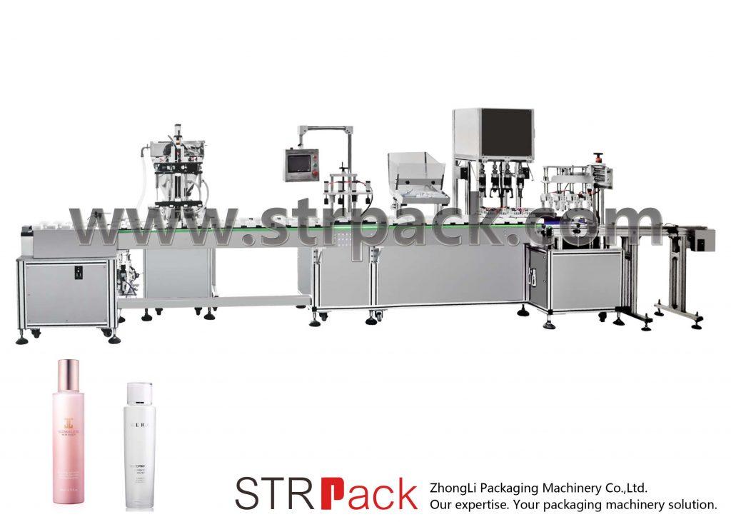 Automatinis vandens emulsijos užpildymo ir užkimšimo aparatas