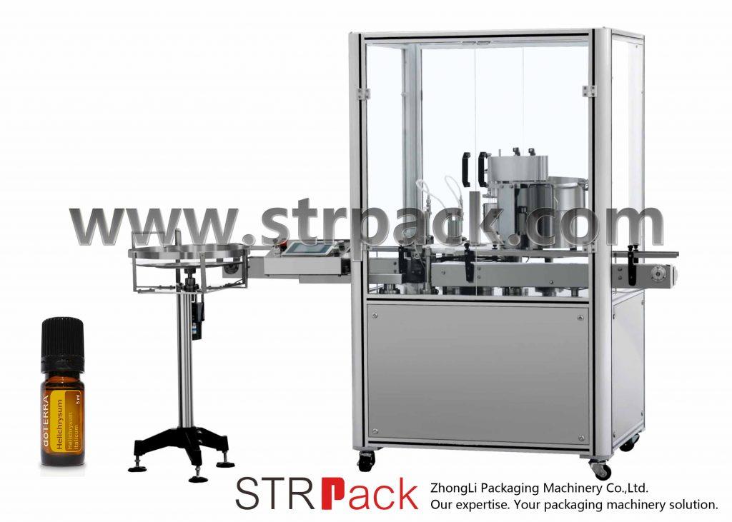 Eterinių aliejų užpildymo dangtelio presavimo mašina